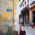School Girl on the Streets of Havana, Cuba.