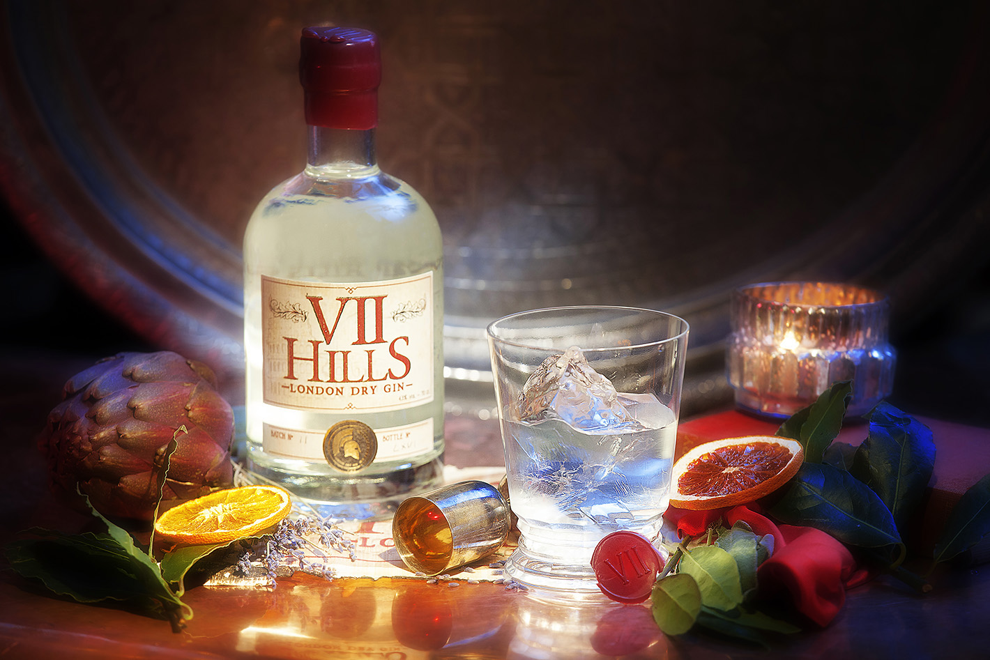 Vii Hills Gin Advertising Photography Commercial