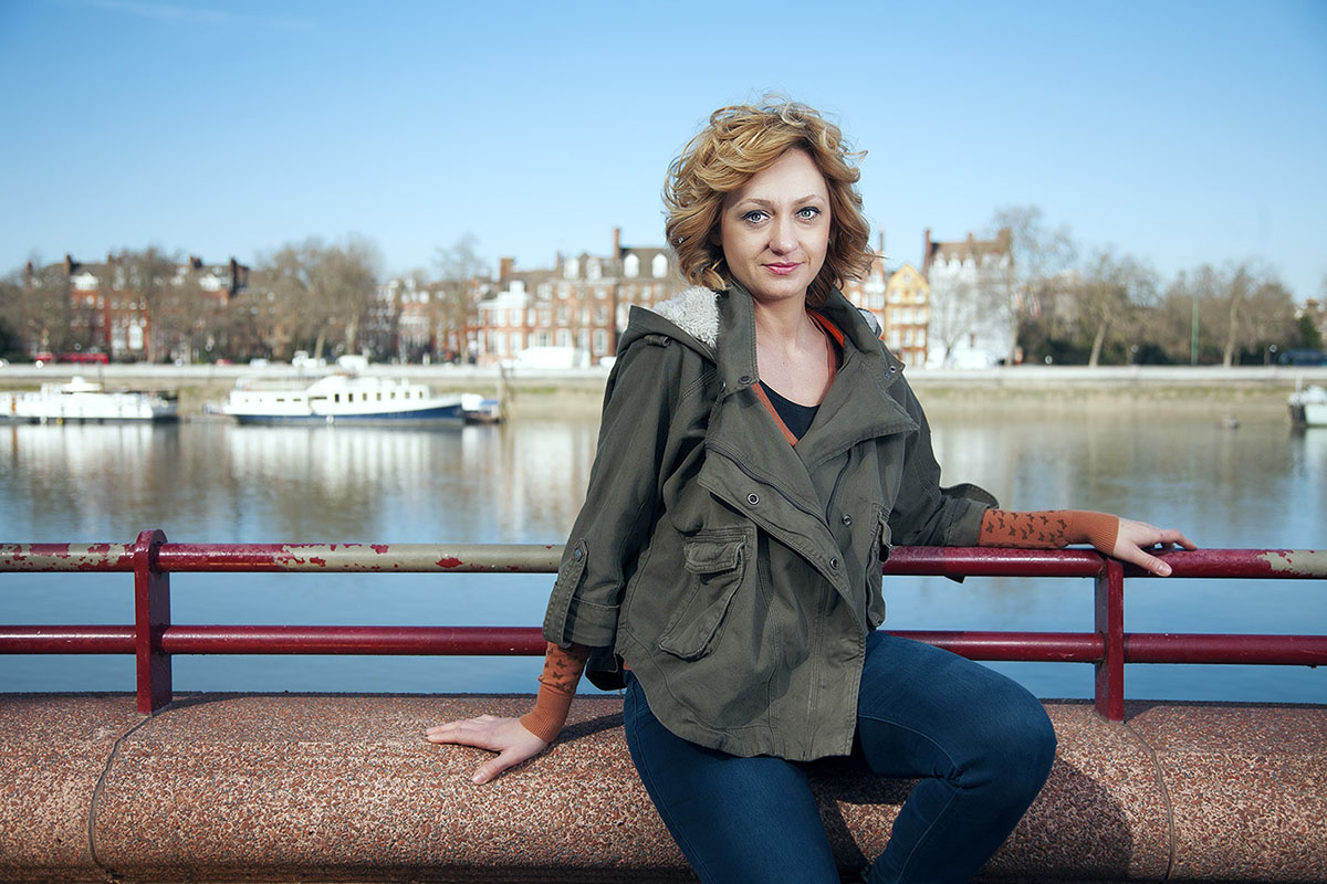 Portrait photography of a woman by river Thames