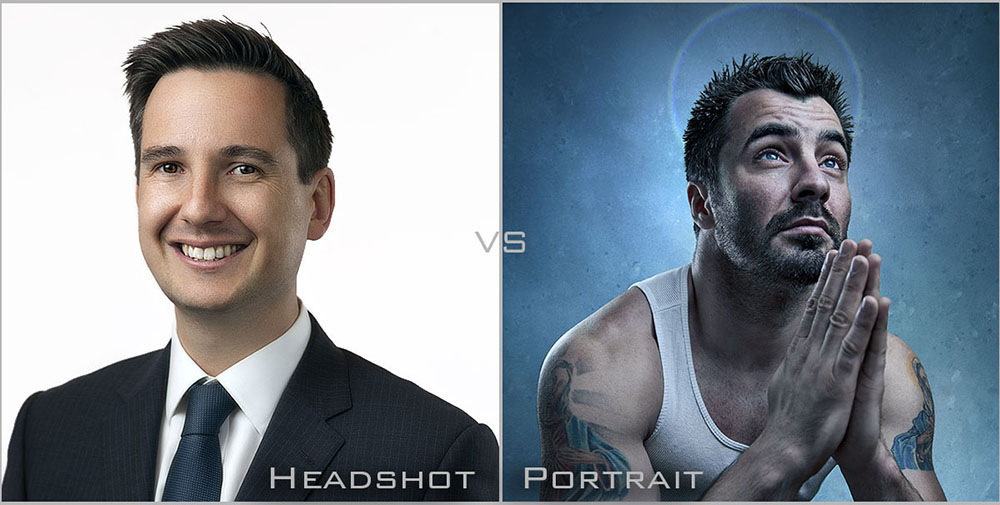Comparing a headshot to portrait photography and identifying the differences between the two styles