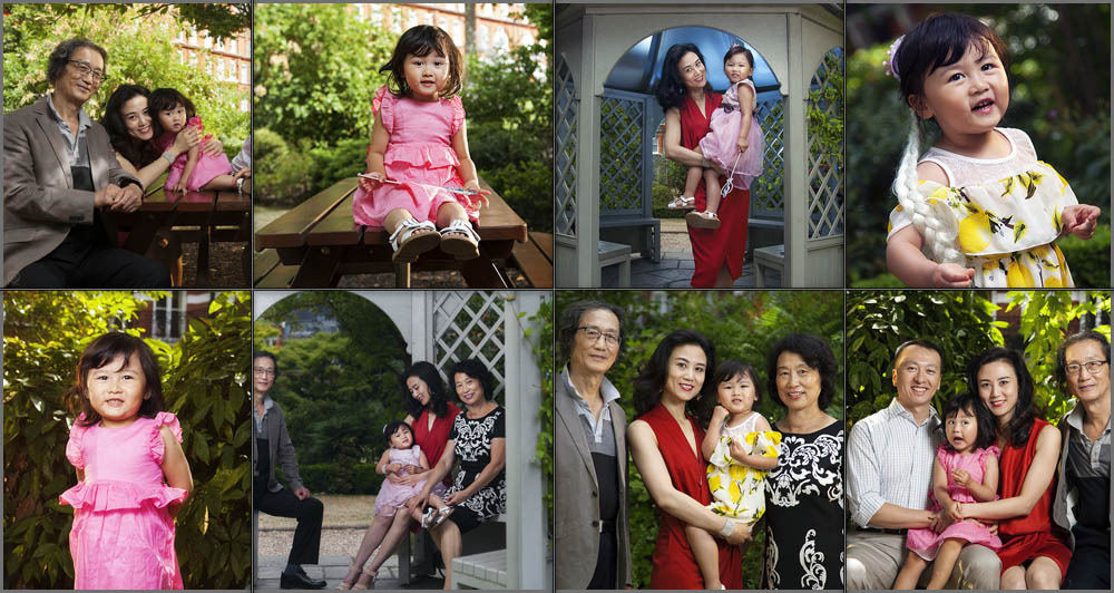 Family portrait session in a small park in south west London