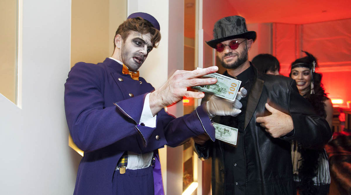 Bellboy receives bribe at Privet party event in London