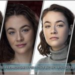 Four different looks headshot photography with young and aspiring actress